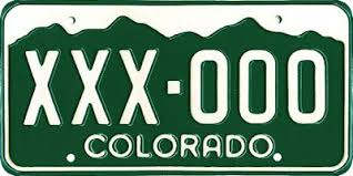 Colorado License Plate Lookup