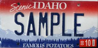 Image result for idaho license plate