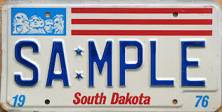 South Dakota License Plate Lookup