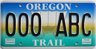 Oregon License Plate Lookup