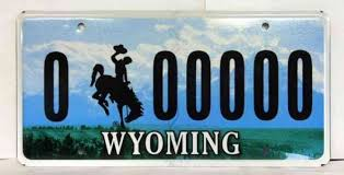 Wyoming License Plate Lookup